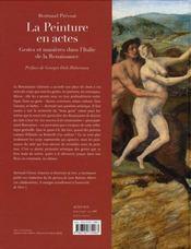 La peinture en actes - 4ème de couverture - Format classique