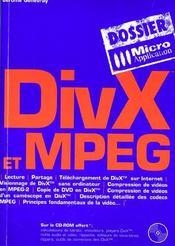 Divx et mpeg - Intérieur - Format classique