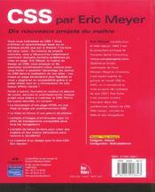 Css - 4ème de couverture - Format classique