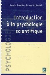Introduction A La Psychologie Scientifique - Intérieur - Format classique