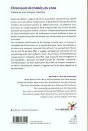 Chroniques Economiques 2000 ; Espoirs Et Risques De La Nouvelle Economie - 4ème de couverture - Format classique