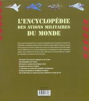 Encyclopedie des avions militaires du monde - 4ème de couverture - Format classique