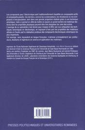 Ceramiques Pour L'Electronique Et L'Electrotechnique - 4ème de couverture - Format classique