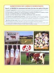 Alimentation des animaux domestiques t.2 ; la pratique - 4ème de couverture - Format classique