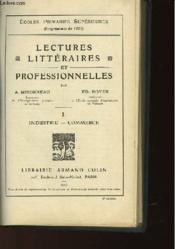 Lectures Litteraires Et Professionnelles Des Ecoles Primaires Superieures - Tome 1 - Industrie-Commerce - Couverture - Format classique