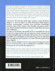 The Remains Of The Day By Kazuo Ishiguro - 4ème de couverture - Format classique
