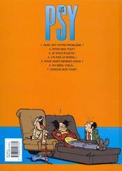 Les psy t.7 ; chacun son tour - 4ème de couverture - Format classique