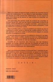 Theorie Des Ensembles (2e Edition) - 4ème de couverture - Format classique