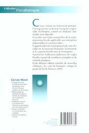 La Fiscalite Des Entreprises ; 10e Edition - 4ème de couverture - Format classique