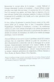 Claude Debussy,La Musique A Vif - 4ème de couverture - Format classique