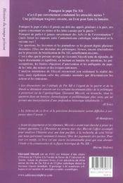 Les dilemmes et silences de pie xii - 4ème de couverture - Format classique