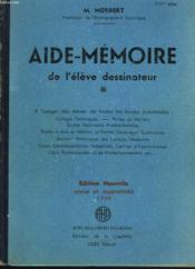 Aide-Memoire De L'Eleve Dessinateur - Couverture - Format classique
