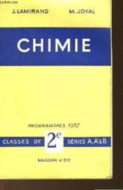 Chimie - Programmes 1957 - Couverture - Format classique