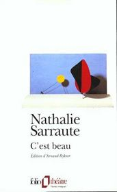 C'Est Beau – Nathalie Sarraute