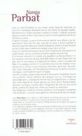 Nanga Parbat - 4ème de couverture - Format classique