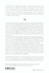 Les Frontieres Dans Un Monde En Mouvement - 4ème de couverture - Format classique