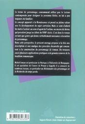 Poetique Du Personnage De Roman - 4ème de couverture - Format classique