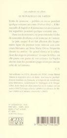 Le Monaciello De Naples ; Le Phantasme - 4ème de couverture - Format classique