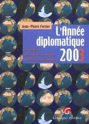L'Annee Diplomatique 2003 - Intérieur - Format classique