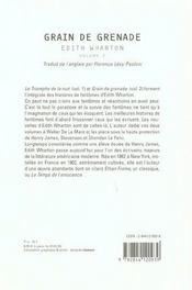 Grains De Grenade ; Le Triomphe De La Nuit - 4ème de couverture - Format classique