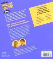 Guide Des Meilleurs Sites Web - 4ème de couverture - Format classique