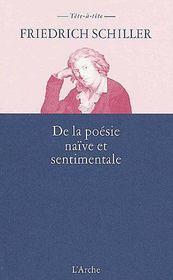 De la poésie naïve et sentimentale - Couverture - Format classique