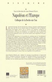 Napoleon et l europe - 4ème de couverture - Format classique
