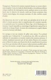 Histoire De La Notation Musicale Du Moyen Age... - 4ème de couverture - Format classique
