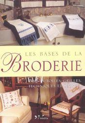 Bases De La Broderie - Intérieur - Format classique