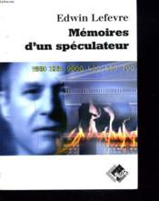 Memoires D Un Speculateur - Couverture - Format classique