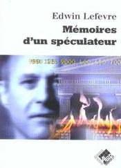 Memoires D Un Speculateur - Intérieur - Format classique