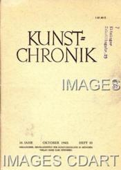 KUNST=CHRONIK. 18. JAHR. OKTOBER 1965. HEFT 10. CONSEIL INTERNATIONAL DES MONUMENTS ET DES SITES [ICOMOS]. 1000 JAHRE GLASMALEREI. AUSSTELLUNG IN STRASSBURG. HANS BELTING. DIE BASILICA DEI SS. MARTIRI IN CIMITILE. GUIDO DA SIENA . (Poids de 44 grammes) - Couverture - Format classique
