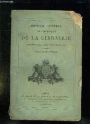 Journal General De L Imprimerie Et De La Librairie. Deuxieme Serie Tome Xxxii Annee 1888. Table Alphabetique. - Couverture - Format classique