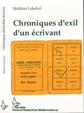 Chroniques D'Exil D'Un Ecrivant - Couverture - Format classique