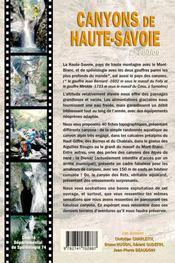 Canyons de Haute-Savoie (2e édition) - 4ème de couverture - Format classique