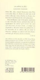L'Infante Ensevelie - 4ème de couverture - Format classique