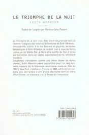 Le Triomphe De La Nuit - 4ème de couverture - Format classique
