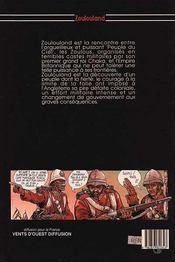 Zoulouland t.1 ; comme un vol d'hirondelle - 4ème de couverture - Format classique