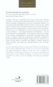 Echos Infinis Du Silence - 4ème de couverture - Format classique