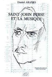 Saint-john perse et la musique - Couverture - Format classique