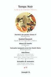 Revue Temps Noir T.7 - Intérieur - Format classique