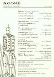 Agone 25-2001 - Intérieur - Format classique