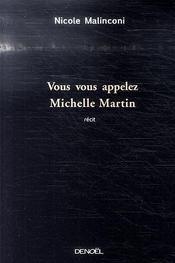 Vous vous appelez Michelle Martin - Intérieur - Format classique