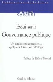 La gouvernance ds milieux pub.et politiques - Intérieur - Format classique