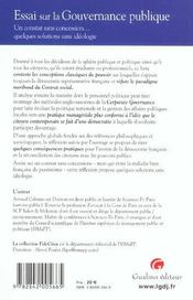 Gouvernance Ds Milieux Pub.Et Politiques (La) - 4ème de couverture - Format classique