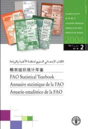 Fao Statistical Yearbook 2004, Vol.1/2 : Country Profiles (English/French/ Spanish) - Couverture - Format classique