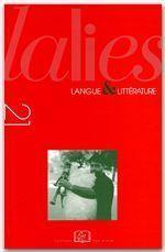 Revue Lalies N.21 - Couverture - Format classique