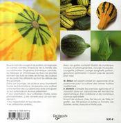 Courges et courgettes - 4ème de couverture - Format classique