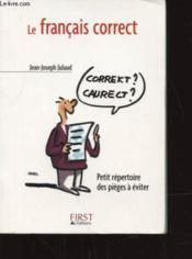 Le français correct - Couverture - Format classique