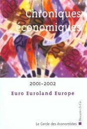 Chroniques Economiques ; Edition 2001 - Intérieur - Format classique
